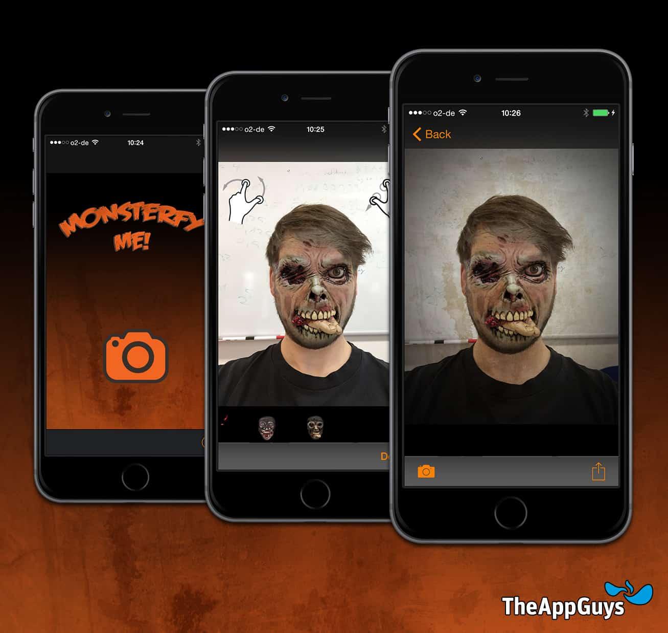 Passend zu Halloween bringen TheAppGuys mit der Monsterfy Me App einen gruseligen Gratis-Spaß auf den Markt. Mit dieser App können Horror-Fans ihre normalen Portraitfotos in furchterregende Monster-Fratzen verwandeln.