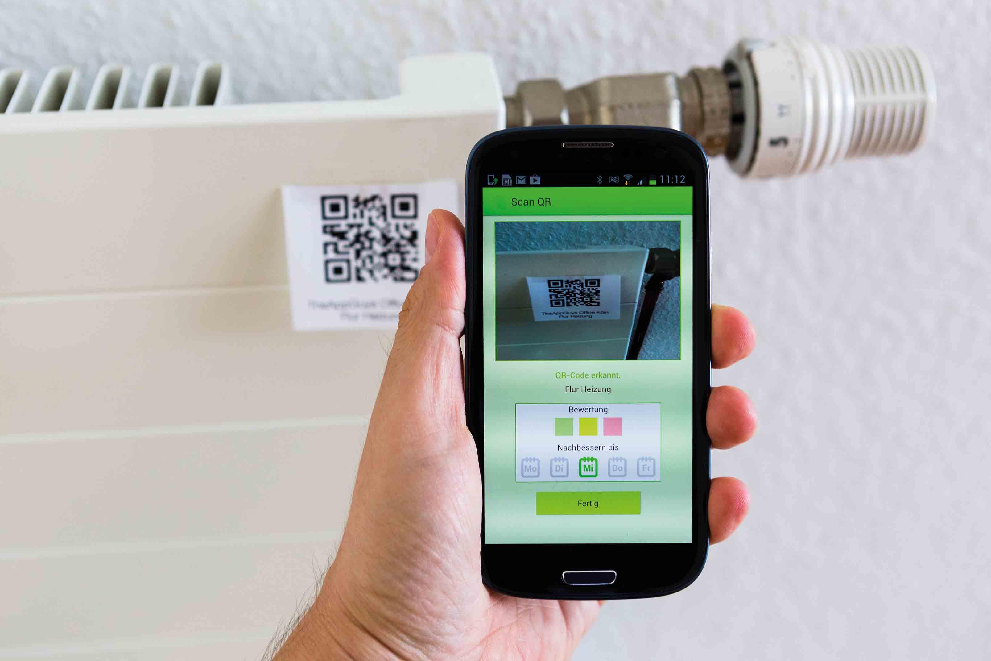 Neuheit: Papierlose Gebäudereinigungskontrolle per App QR-Code + GPS: Überprüfung großer Gebäude ab sofort leicht und übersichtlich