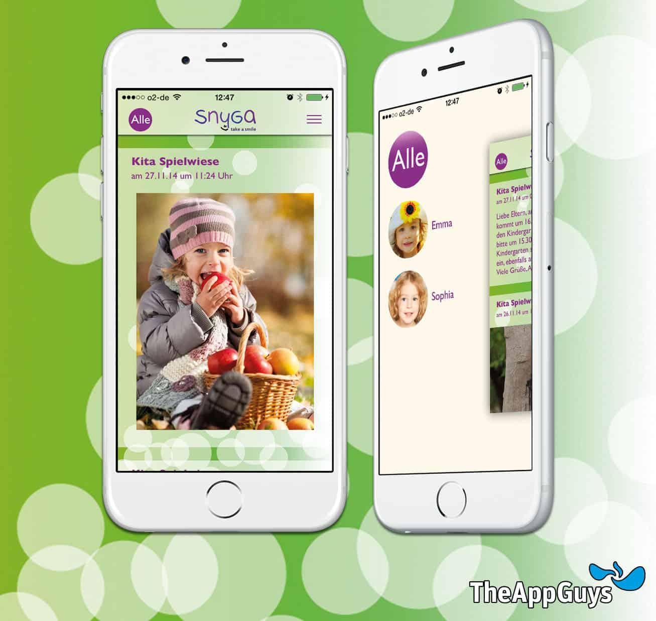 Erstmals per Smartphone: Nachrichten und Fotos aus der Kita in Echtzeit abrufbar. Snyga Familien App: ab 8. Dezember 2014 kostenlos im iTunes Store erhältlich