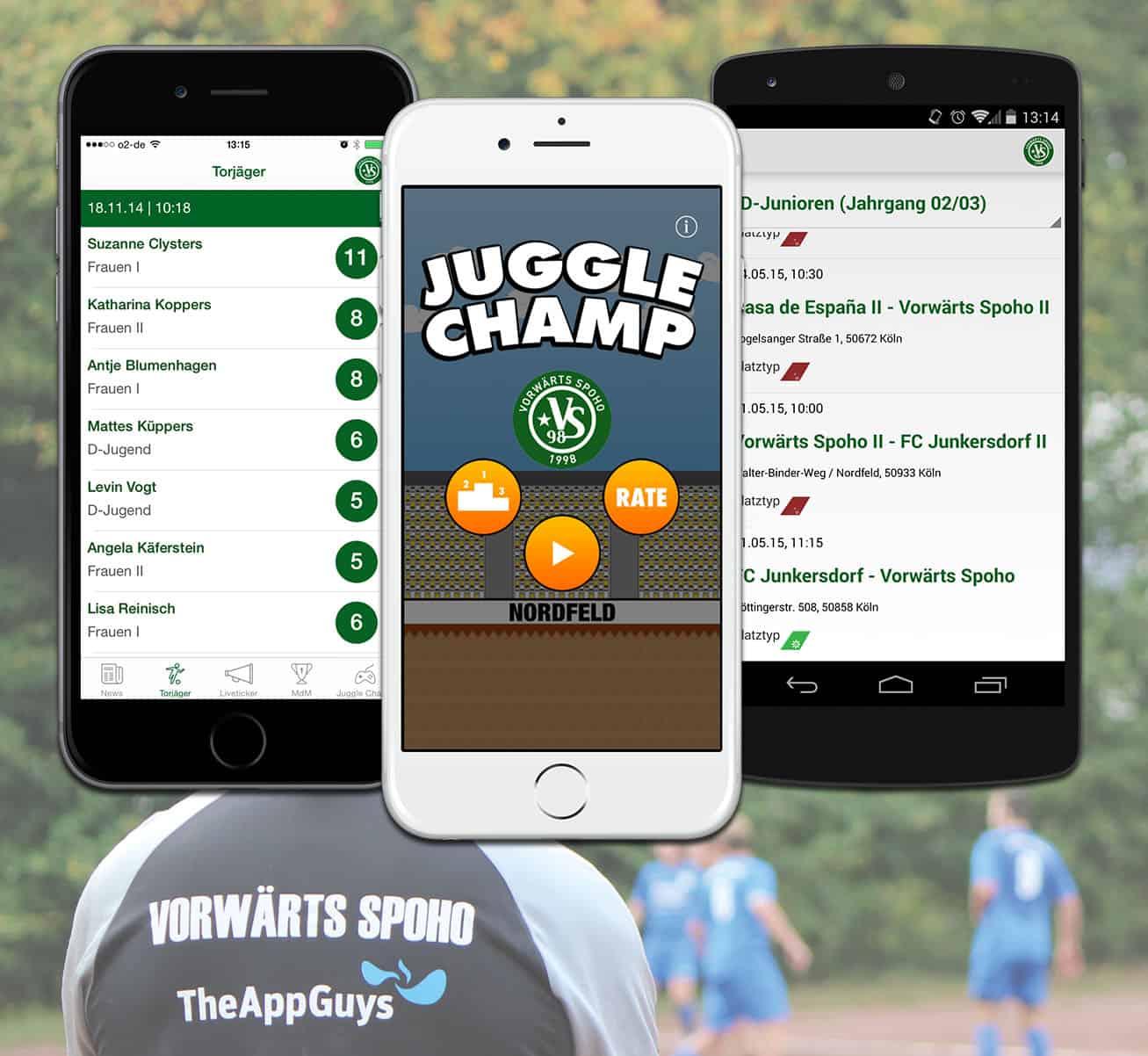 Kölner Fußballverein verlängert seinen Online-Auftritt auf das Smartphone 'VS98' ab sofort gratis für iPhone und Android erhältlich