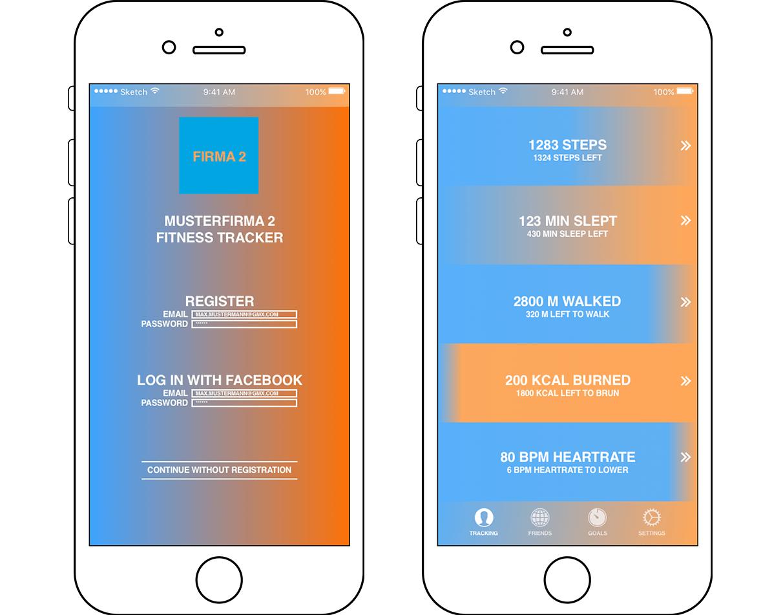 Farbänderung als Feedback des Fortschritts White-Label Design-Lösung zur gestreuten Vermarktung Statistik-Analyse mit variablem Zeitfenster