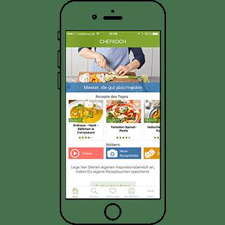 Die Online-Plattform Chefkoch gehört zu den erfolgreichsten Kochportalen Europas. Seit Sommer 2014 gibt es dazu erstmals kosteneffektive native Apps für die Betriebssysteme iOS und Android von TheAppGuys aus Köln.