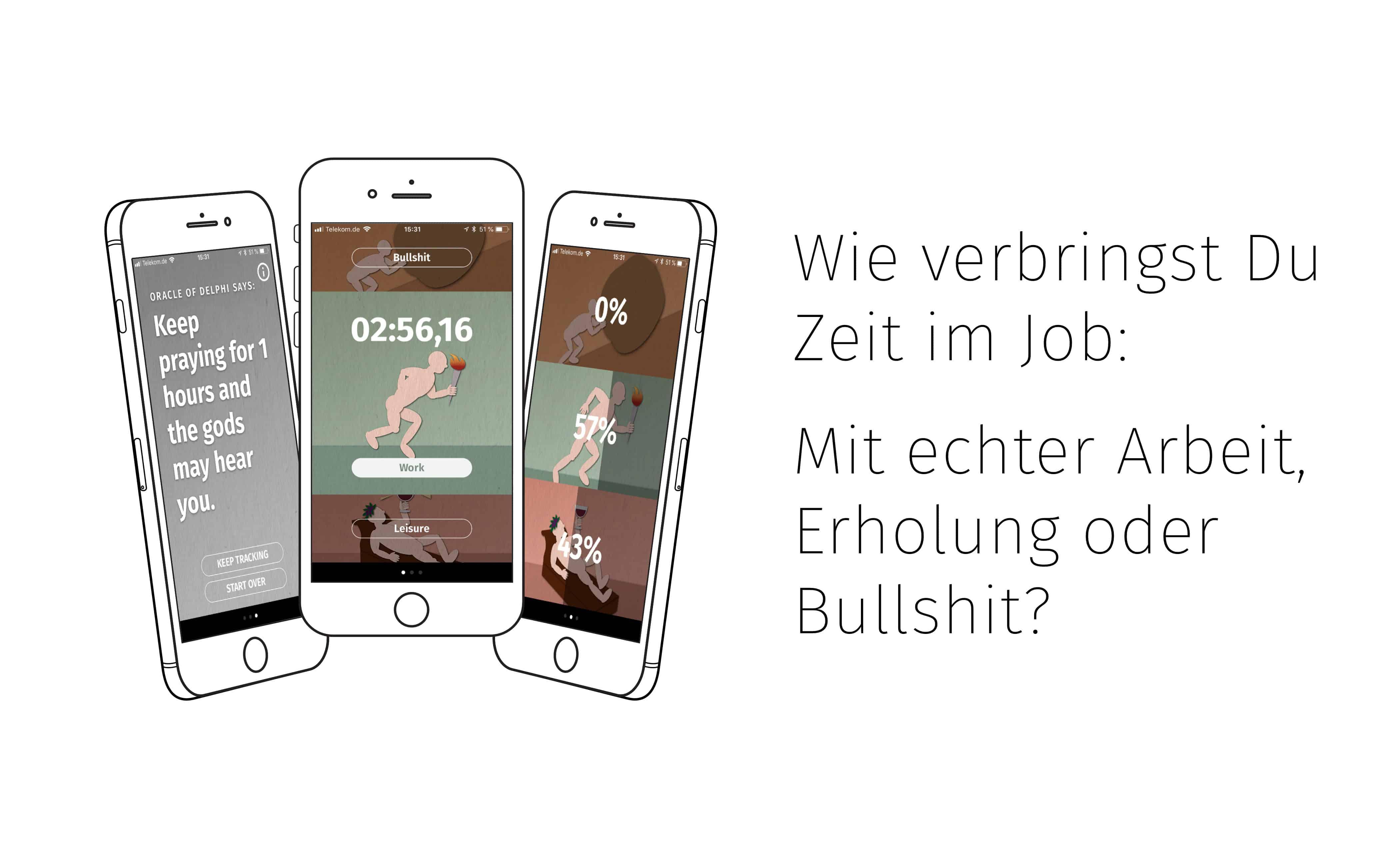Wie verbringst du Zeit im Job: Mit echter Arbeit, Erholung oder Bullshit? TheAppGuys sind eine Agentur für iOS und Android Entwicklung aus Köln.