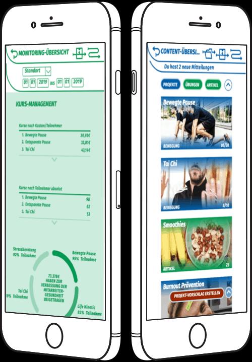 GM Digital ist eine whitelable-fähige Plattform für betriebliches Gesundheitsmanagement (BGM) Es vereint die digitale Planung und Verwaltung von Kursen im Unternehmen und ermöglicht es die Maßnahmen nicht nur einfacher erreichbar für die Mitarbeiter zu machen, sondern ermöglicht es dem Koordinator auch alle laufenden Kurse auf Effektivität hin auszuwerten.